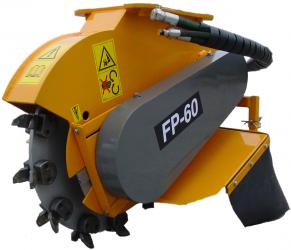 Stump grinder FP60 for backhoe
