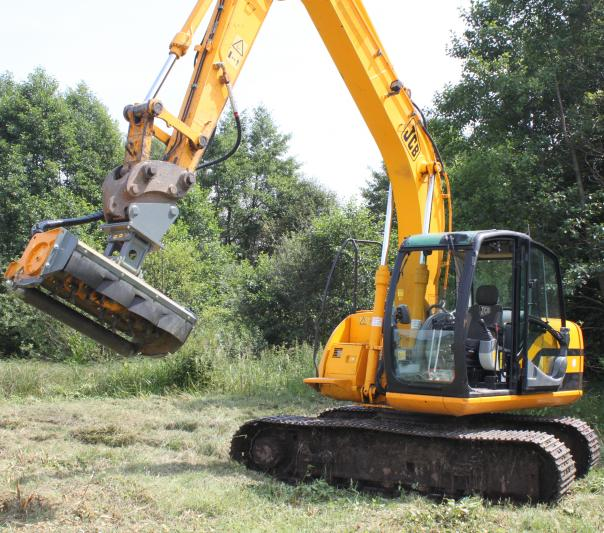 Light flail mower for excavator GHL